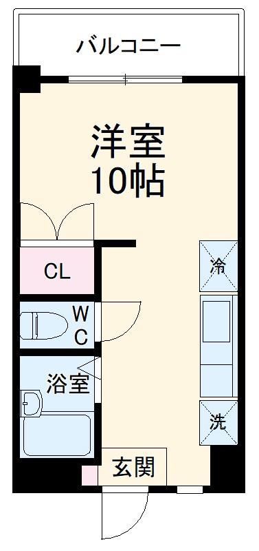 ハウスグリーン箱崎スマートイースト・403号室の間取り