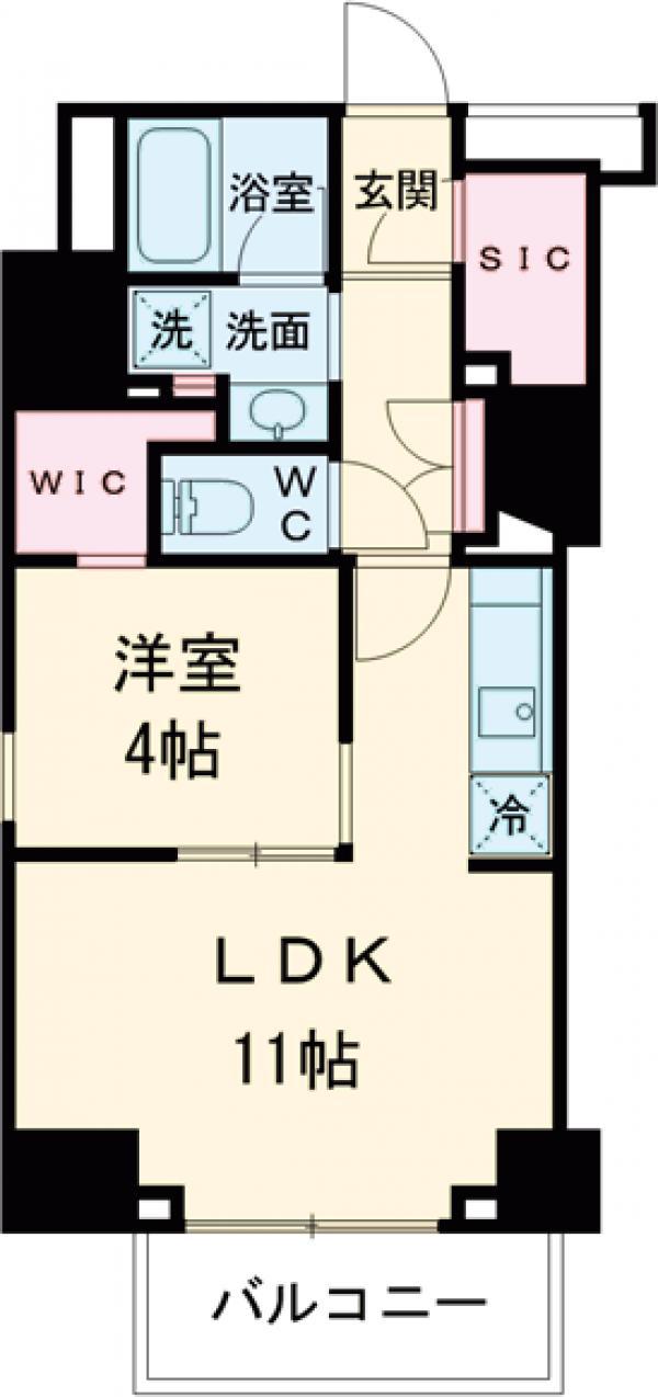 プラウドフラット西早稲田・0408号室の間取り