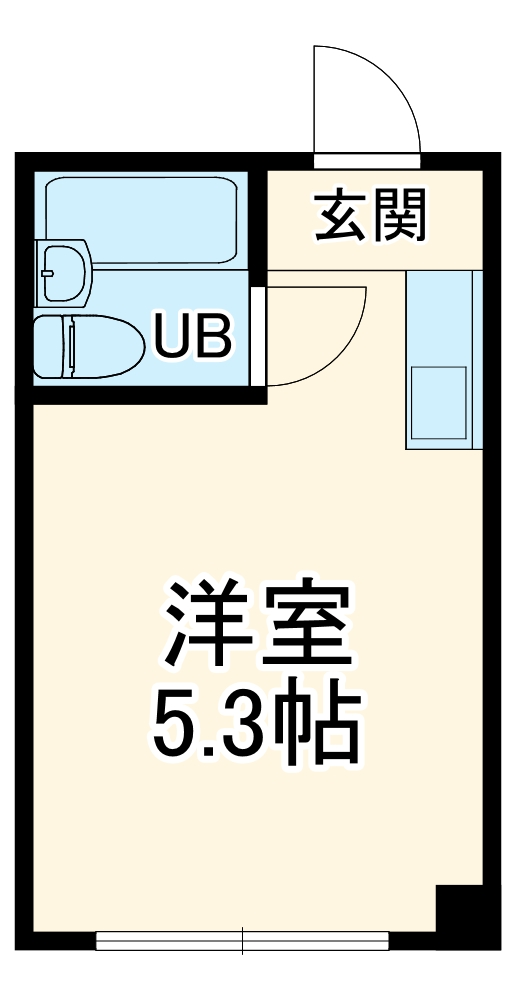 Mマンション・202号室の間取り