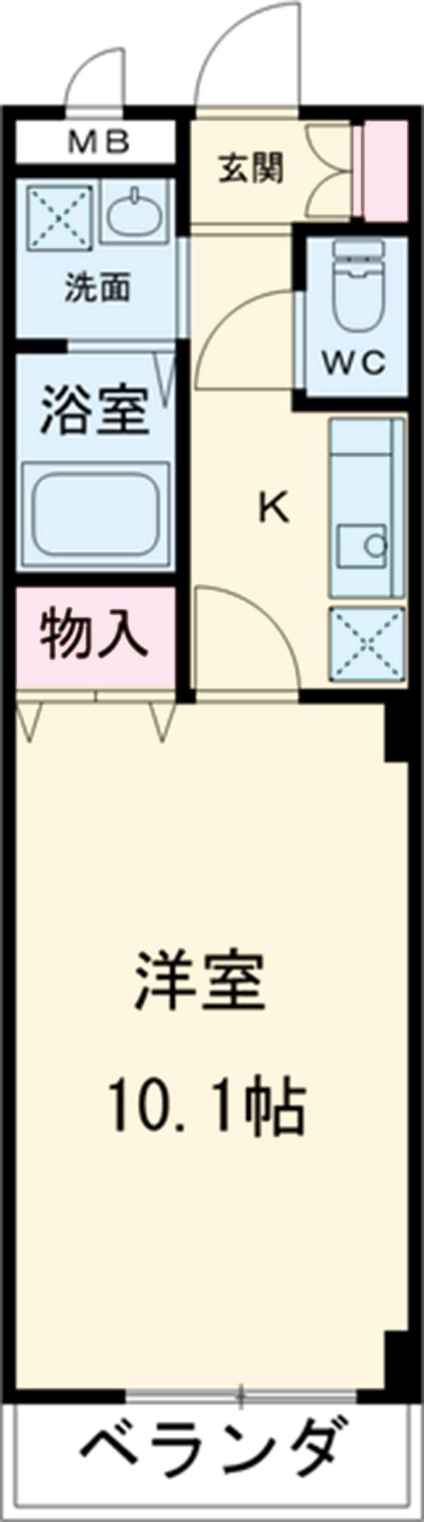 本州ビルⅡ・208号室の間取り