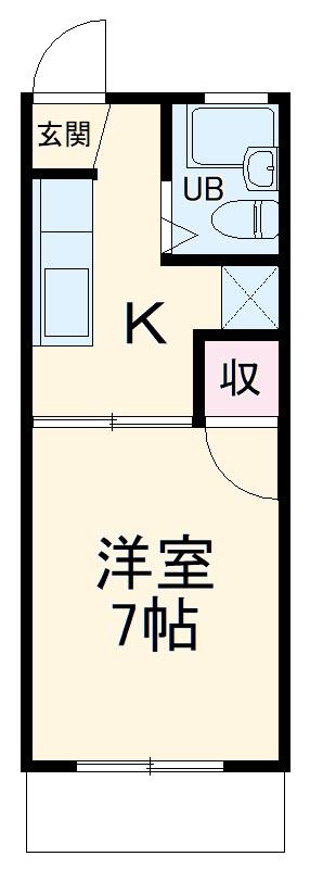 セリーヌ大井川・201号室の間取り