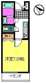 liberte Ⅱ 205号室の間取り