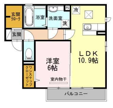 HIBARI・102号室の間取り