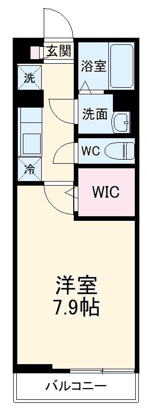 グレイス千葉中央・105号室の間取り