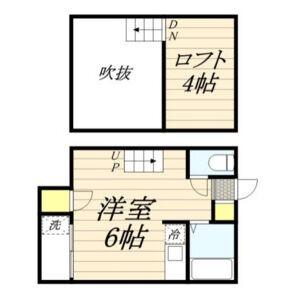 ウィステリア箱崎・0102号室の間取り