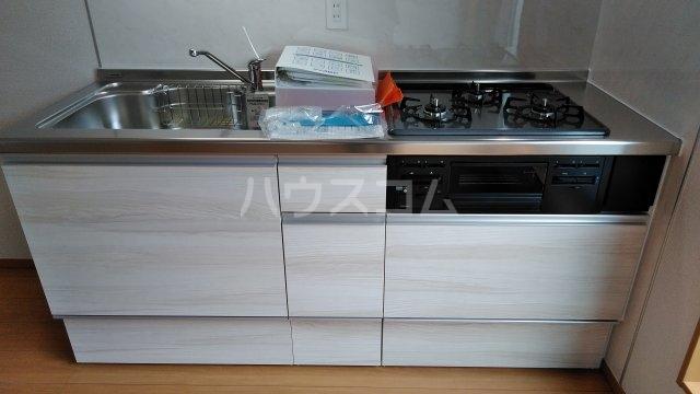 ミソラ荘 201号室のキッチン