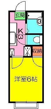 石井ハイツⅡ・201号室の間取り