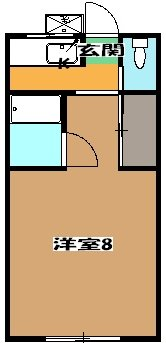 ミドリ荘 A号室の間取り