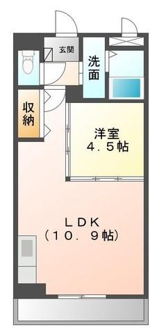 アクアサイドⅡ 201号室の間取り