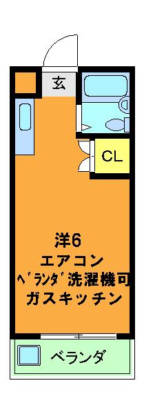 竹田ハイツ 211号室の間取り