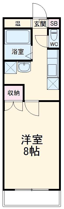 Plume百園 3A号室の間取り