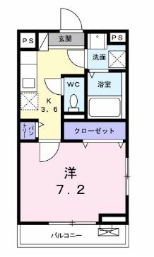 ココ アムール・02010号室の間取り