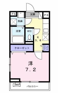 ココ アムール・02050号室の間取り