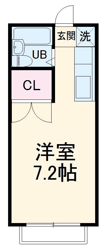 ヤマト南矢名ハウスB・201号室の間取り
