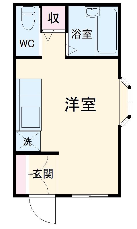 コスモス湘南・103号室の間取り