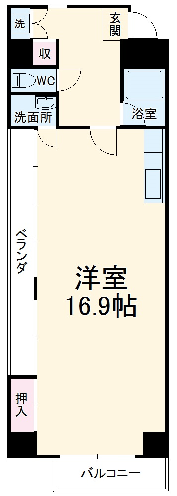 Sayama Flat・604号室の間取り