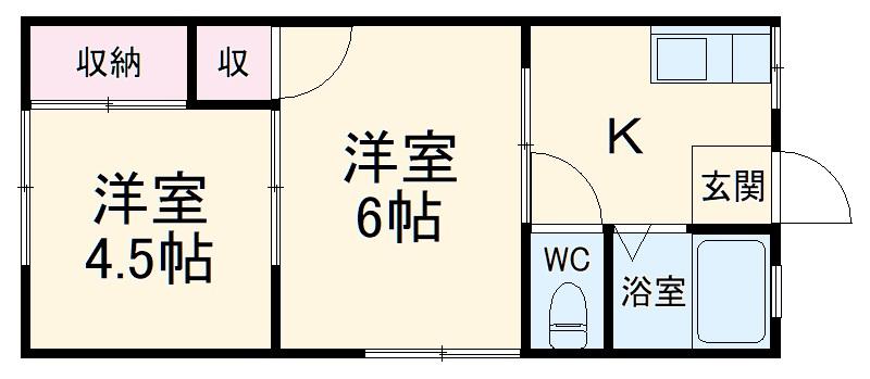 桜ハイツ・102号室の間取り