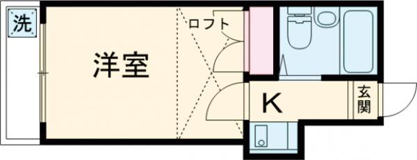 K・柴又 203号室の間取り