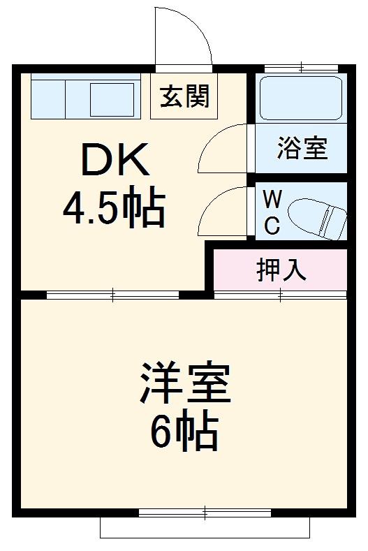 弥生荘・8号室の間取り