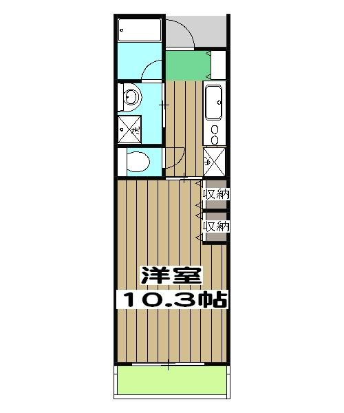 コンファタ太秦・502号室の間取り