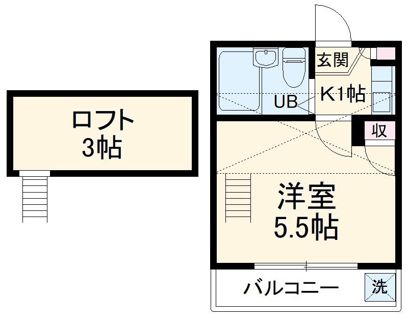 Aria横濱 202号室の間取り
