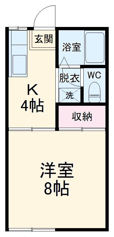 ファミーユ吉野・202号室の間取り
