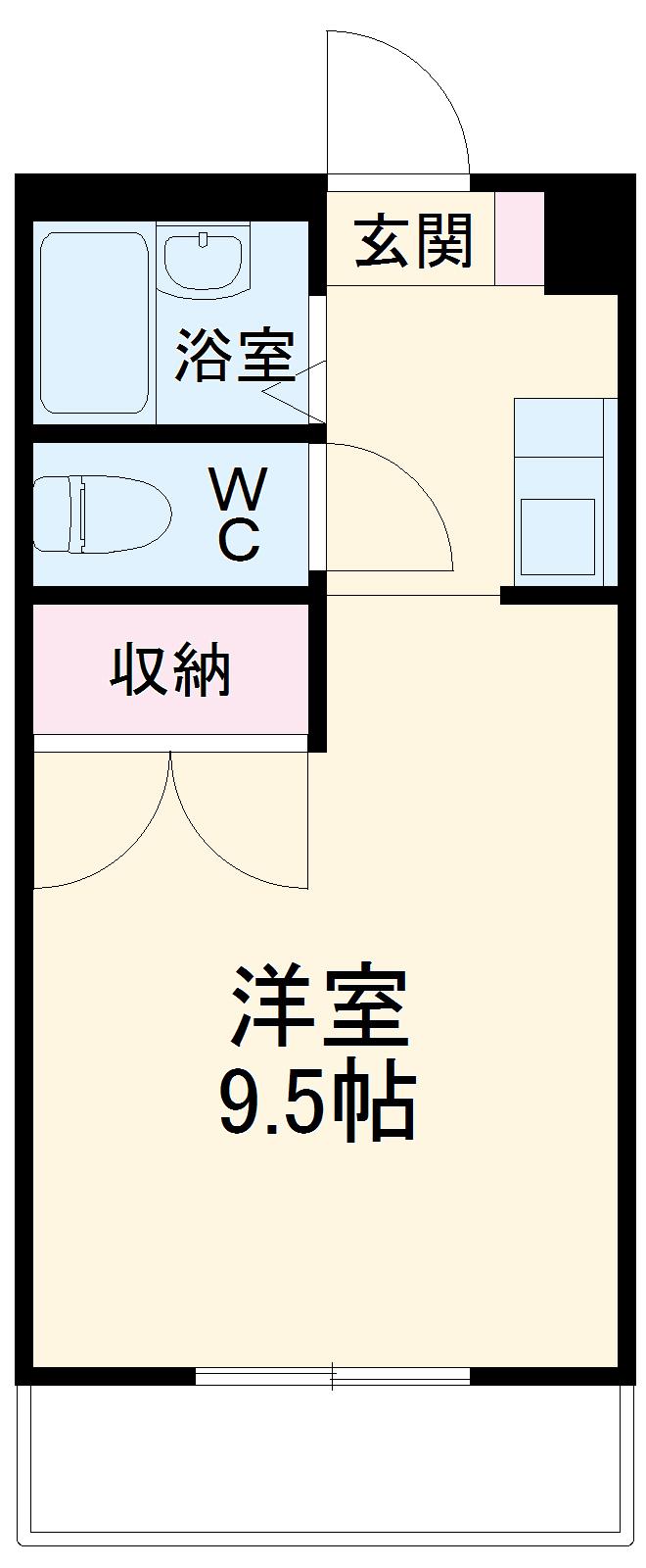 Mh-Arc三蔵子・207号室の間取り