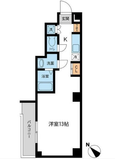 RJRプレシア新横浜・309号室の間取り