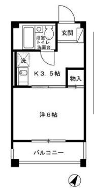 シュクレ川崎・402号室の間取り