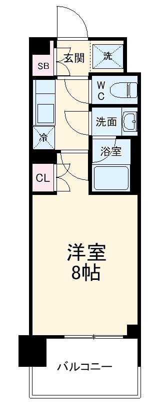 BluRock東神奈川・904号室の間取り
