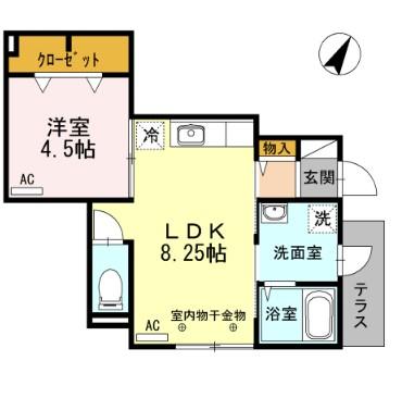 D-room阿佐谷南 102号室の間取り