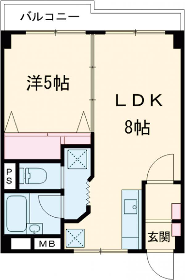 高島平ニシモリ・203号室の間取り
