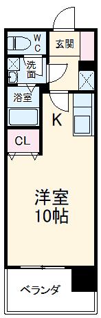 KDXレジデンス神宮前・206号室の間取り