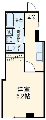 グリーンハイツ福田B棟・106号室の間取り
