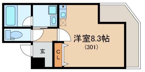 Glanlink Komazawa・301号室の間取り