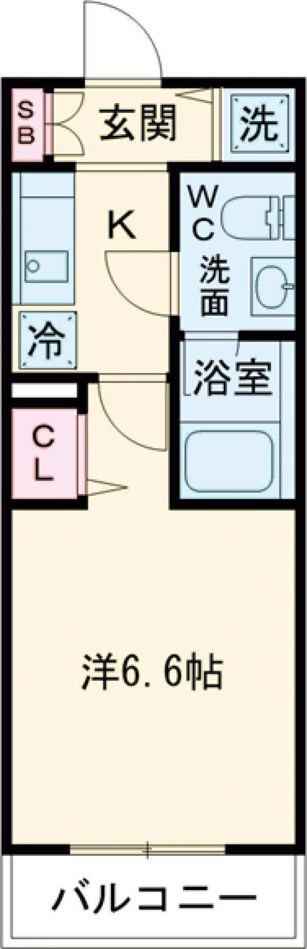 AZESTお花茶屋Ⅲ・110号室の間取り