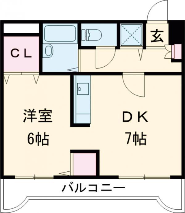 タウンコート本宿・302号室の間取り