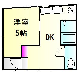 栗橋国分アパートA号棟 101号室の間取り