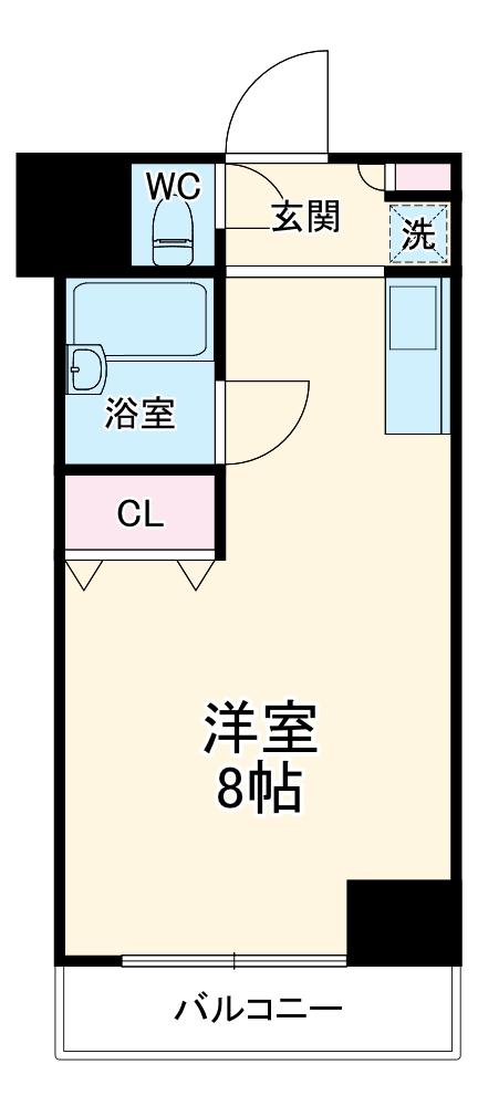 ライオンズプラザ南太田・416号室の間取り