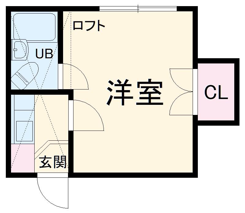 ネオプラザ三ッ沢・102号室の間取り
