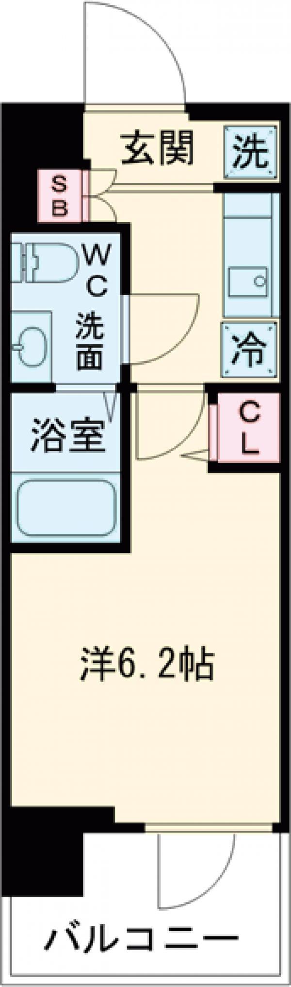 SHOKEN Residence亀有・1105号室の間取り