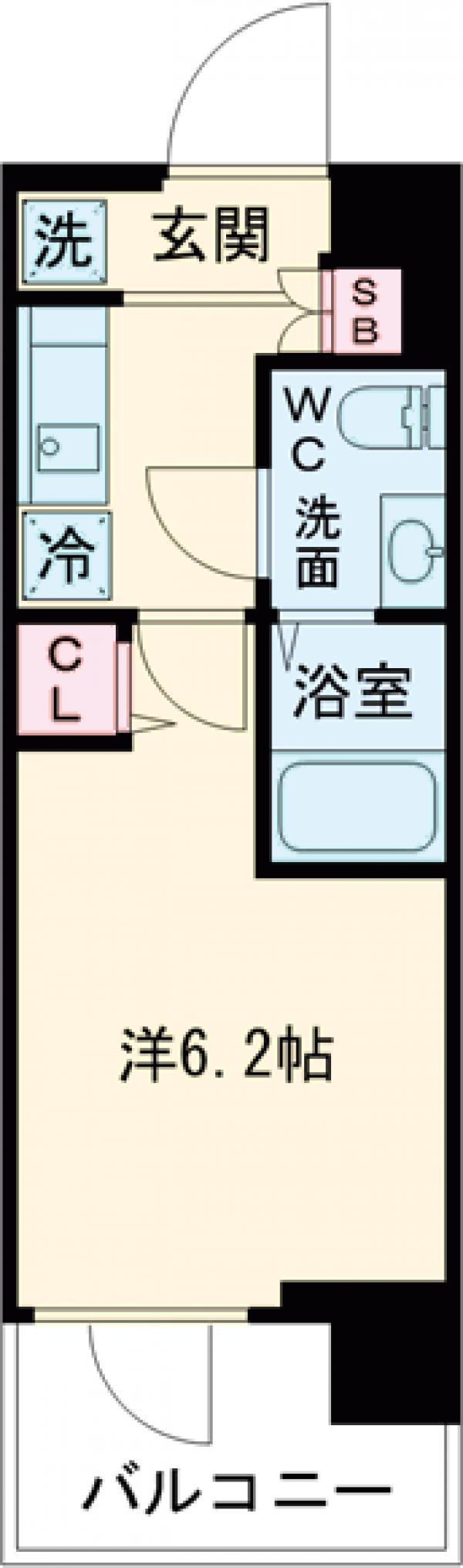 SHOKEN Residence亀有・1003号室の間取り