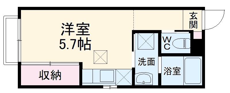 (仮称)大宮区大成町計画・101号室の間取り