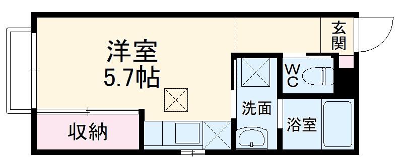 (仮称)大宮区大成町計画・201号室の間取り