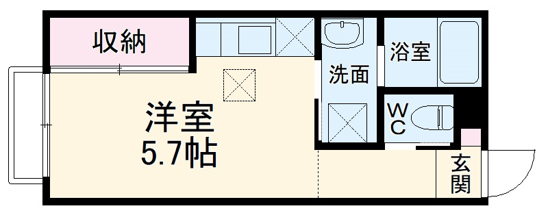 (仮称)大宮区大成町計画・203号室の間取り