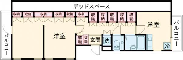 TCRE目黒本町・302B号室の間取り