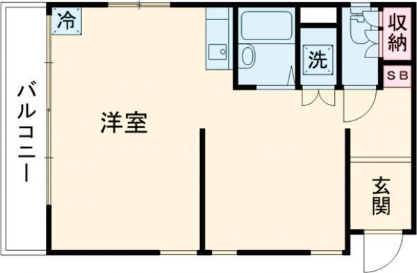TCRE目黒本町・104C号室の間取り