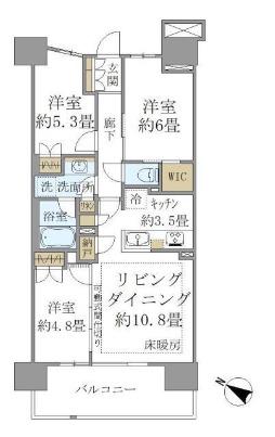 SHINTO CITY A911号室の間取り