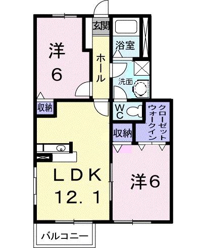 Amis House B 01030号室の間取り
