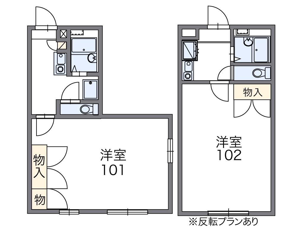 レオパレス愛松・303号室の間取り